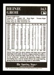 1991 Conlon #163   -  Heinie Groh 1916 League Leaders Back Thumbnail