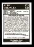 1991 Conlon #173   -  Rube Bressler Story Back Thumbnail