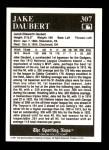 1991 Conlon #307   -  Jake Daubert Most Valuable Player Back Thumbnail
