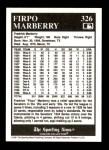 1991 Conlon #326  Firpo Marberry  Back Thumbnail