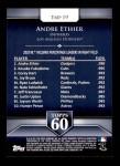 2011 Topps 60 #19 T-60 Andre Ethier  Back Thumbnail