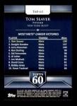 2011 Topps 60 #61 T-60 Tom Seaver  Back Thumbnail