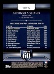 2011 Topps 60 #92 T-60 Alfonso Soriano  Back Thumbnail