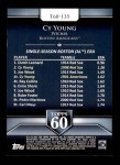 2011 Topps 60 #135 T-60 Cy Young  Back Thumbnail