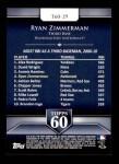 2011 Topps 60 #29 T-60 Ryan Zimmerman  Back Thumbnail