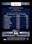 2011 Topps 60 #65 T-60 Don Mattingly  Back Thumbnail