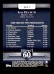 2011 Topps 60 #9 T-60 Ian Kinsler  Back Thumbnail