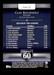 2011 Topps 60 #22 T-60 Clay Buchholz  Back Thumbnail
