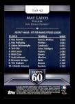 2011 Topps 60 #42 T-60 Mat Latos  Back Thumbnail