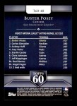 2011 Topps 60 #48 T-60 Buster Posey  Back Thumbnail