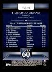 2011 Topps 60 #78 T-60 Francisco Liriano  Back Thumbnail