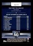 2011 Topps 60 #99 T-60 Jacoby Ellsbury  Back Thumbnail