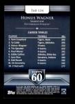 2011 Topps 60 #134 T-60 Honus Wagner  Back Thumbnail