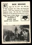 1951 Topps Magic #67  Dick Dewing  Back Thumbnail