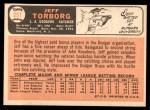 1966 Topps #257  Jeff Torborg  Back Thumbnail