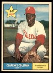 1961 Topps #502  Clarence Coleman  Front Thumbnail