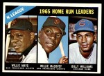 1966 Topps #217   -  Willie Mays / Willie McCovey / Billy Williams NL HR Leaders Front Thumbnail