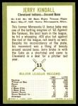 1963 Fleer #13  Jerry Kindall  Back Thumbnail