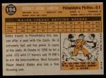 1960 Topps #194  Bobby Gene Smith  Back Thumbnail