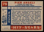 1957 Topps Hit Stars #79  Pier Angeli   Back Thumbnail