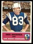 1962 Fleer #81  Dave Kocourek  Front Thumbnail