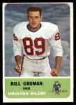 1962 Fleer #49  Bill Groman  Front Thumbnail