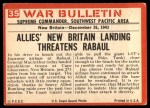 1965 Philadelphia War Bulletin #35   Ocean-Going Garage Back Thumbnail