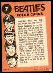 1964 Topps Beatles Color #7   Ringo and Paul yelling Back Thumbnail