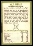 1963 Fleer #3  Milt Pappas  Back Thumbnail