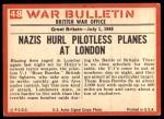 1965 Philadelphia War Bulletin #48   Secret Weapon Back Thumbnail