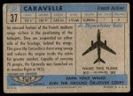 1957 Topps Planes #37 BLU  Caravelle Back Thumbnail