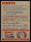 1958 Topps   Contest Card - July 8 - All-Star Game Back Thumbnail