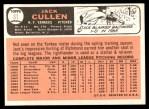 1966 Topps #31  Jack Cullen  Back Thumbnail
