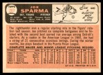 1966 Topps #267  Joe Sparma  Back Thumbnail