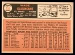 1966 Topps #355  Wade Blasingame  Back Thumbnail