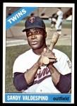 1966 Topps #56  Sandy Valdespino  Front Thumbnail
