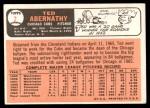 1966 Topps #2  Ted Abernathy  Back Thumbnail