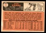 1966 Topps #233  Dom Zanni  Back Thumbnail