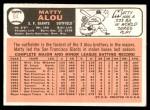1966 Topps #94  Matty Alou  Back Thumbnail