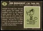 1969 Topps #10  Jim Dunaway  Back Thumbnail