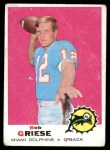 1969 Topps #161  Bob Griese  Front Thumbnail