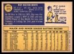 1970 Topps #373  Roy White  Back Thumbnail
