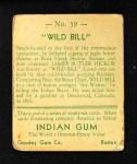 1933 Goudey Indian Gum #59  Wild Bill Hickok  Back Thumbnail