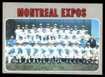 1970 Topps #509   Expos Team Front Thumbnail