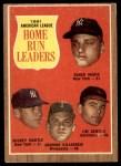 1962 Topps #53   -  Mickey Mantle / Roger Maris / Harmon Killebrew / Jim Gentile AL HR Leaders Front Thumbnail