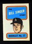 1970 Topps Booklets #17  Bill Singer      Front Thumbnail