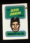 1970 Topps Booklets #20  Deron Johnson  Front Thumbnail