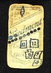 1909 T206 NY Neal Ball  Back Thumbnail