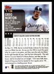 2000 Topps #119  Greg Norton  Back Thumbnail