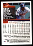 2000 Topps #165  Kenny Lofton  Back Thumbnail